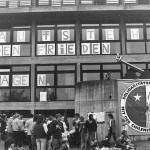 """1984: Friedensfest. Themen: Solidarität mit den Menschen in Chile und Mittelamerika/ El Salvador. Protest gegen den """"NATO-Doppelbeschluss"""""""