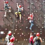 Sichern und Klettern: Bewährungsproben an der Kletterwand und im Niedrigseilgarten
