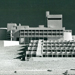 Architekturmodell Stalder/ Schmuck: ursprüngliche Planungen für den Bau der Jugendakademie mit vier Bungalowgebäuden