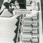 Nicht verwirklichte monumentale Planung: Architekturmodell von Schmuck und Stalder