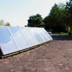 Warmwasserversorgung auf dem Dach