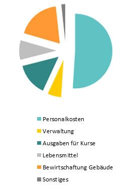 Diagramm zu den Ausgaben der Jugendakademie
