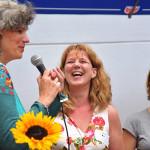 Talkrunde: v.l.: Eva-Maria Antz, Vorsitzende Trägergruppe, Rita Metul und Hanne Kleinemas, Mitglieder des Trägervereins