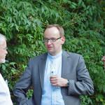 v.l.: Norbert Hölzer, Mitglied Trägerverein, Mike Kolb, Diözesanjugendseelsorger, Thomas Seeberger, ehem. Vorsitzender des Trägervereins
