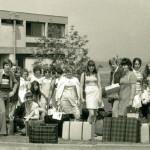 Siebziger Jahre: Eine unbekannte Seminargruppe am Abreisetag