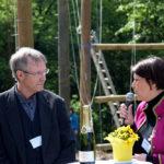 Bornheims Vize-Bürgermeisterin Petra Heller im Gespräch mit Reinhard Griep