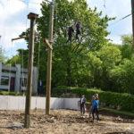 Probeklettern im neuen Hochseilgarten