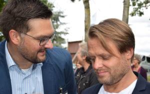 Die beiden Vorsitzenden des Traägervereins Björn Müller-Bohlen (rechts) und Thomas Zander im Gespräch