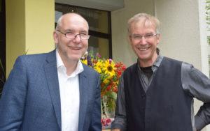 Reinhard Griep, Leiter der Jugendakademie, zusammen mit dem Geschäftsführer des Dachverbandes AKSB (Arbeitsgemeinschaft katholisch-sozialer Bildungswerke e.V. in Deutschland) Dr. Karl Weber.