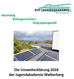Deckblatt der Umwelterklärung 2018