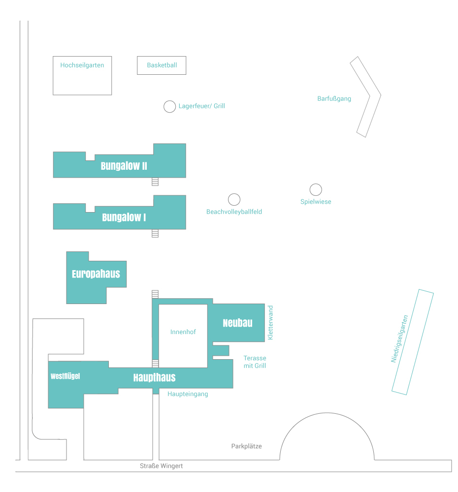 Gebäudeplan der Jugendakademie