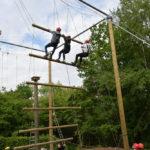 Übungen im Hochseilgarten