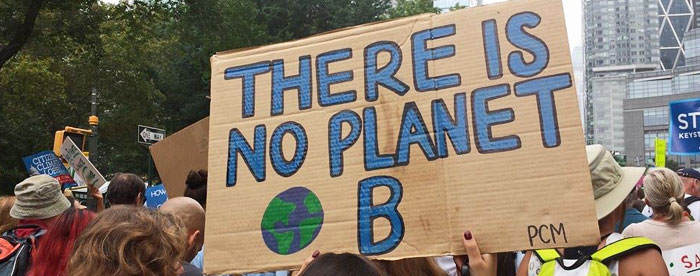 There is no planet B - Demoplakat